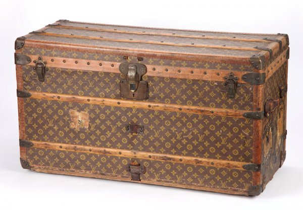 Mabel Normand's Louis Vuitton steamer trunk
