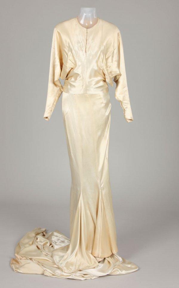 Joan Crawford silk satin wedding gown from Dancing Lady