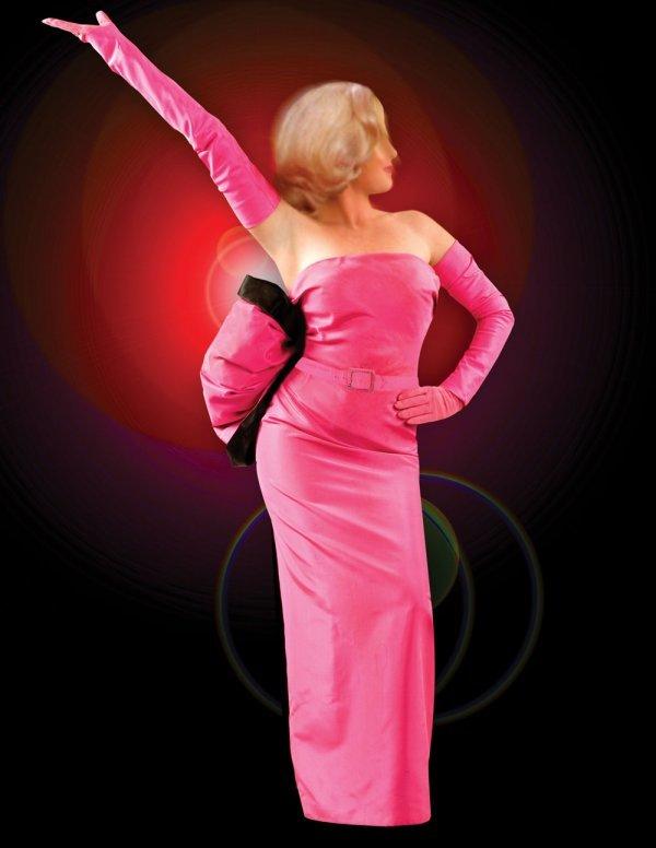 Marilyn Monroe pink gown from Gentlemen Prefer Blondes