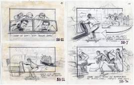 Richard Lasley storyboard art for Back to the Future