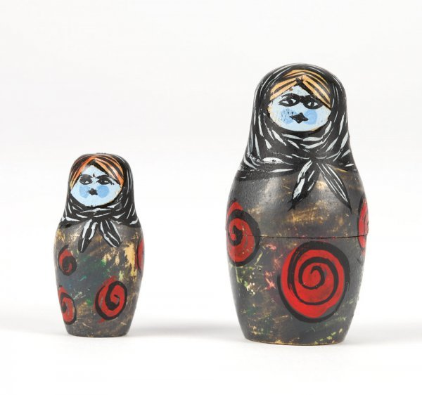 Nesting doll miniatures from Nightmare Before Christmas