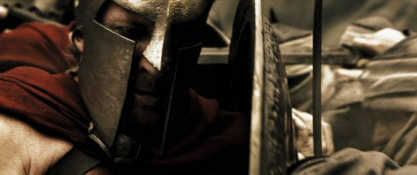 David Wenham Dilios hero Spartan helmet from 300 - 2