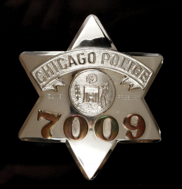 Elvis Presley's Chicago Police badge