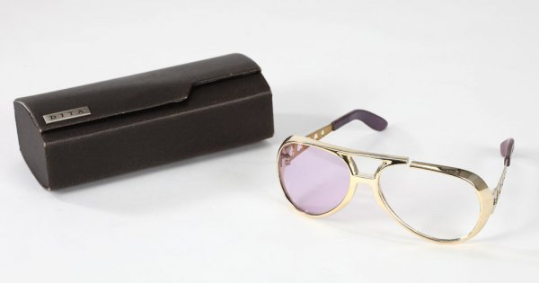Elvis Presley's signature gold aviator sunglasses - 4