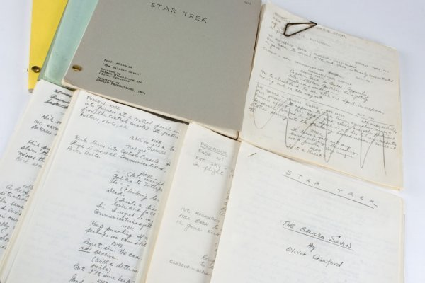 Oliver Crawford's manuscripts for TOS ep. Galileo Seven