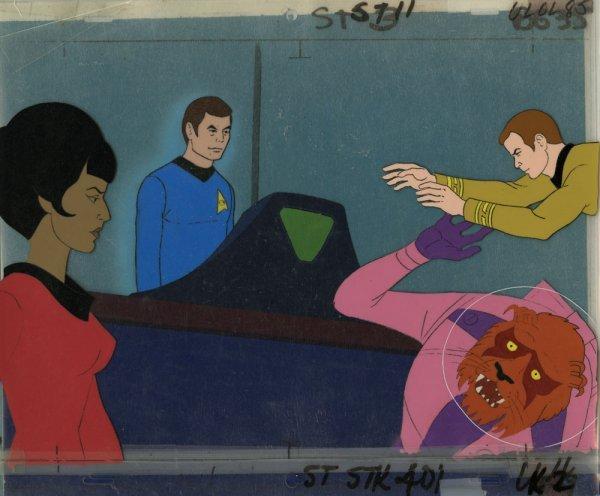 Animation cel composites Star Trek Animated Adventures