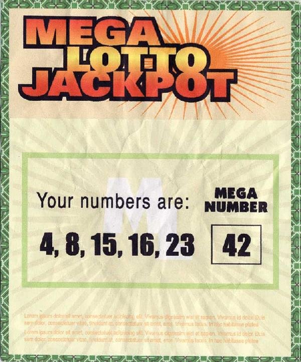 Hurley's winning Mega Lotto Jackpot ticket