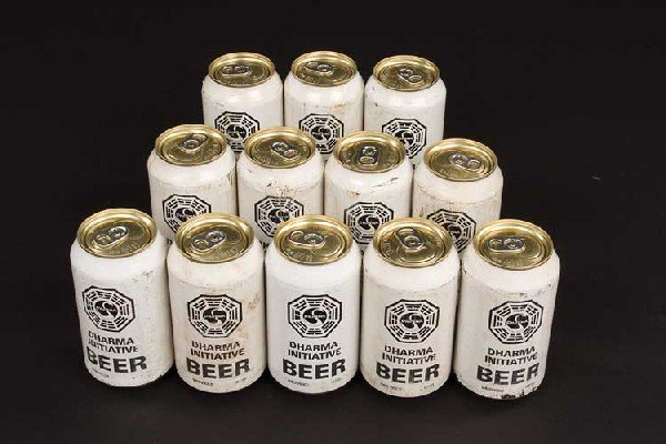 Twelve (12) cans of DHARMA-branded beer