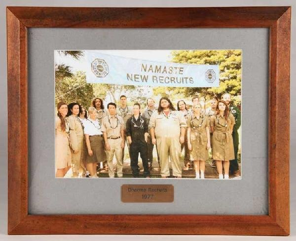 Framed group photo of the 1977 DHARMA recruits