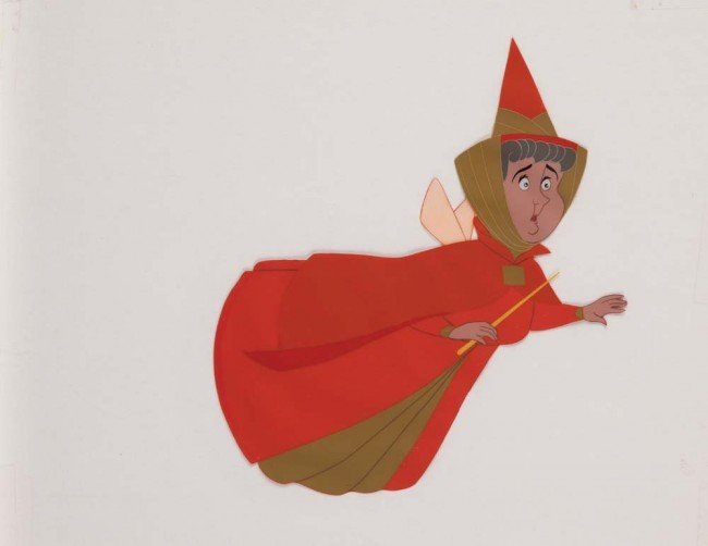 3: Original production cel of Flora in Sleeping Beauty