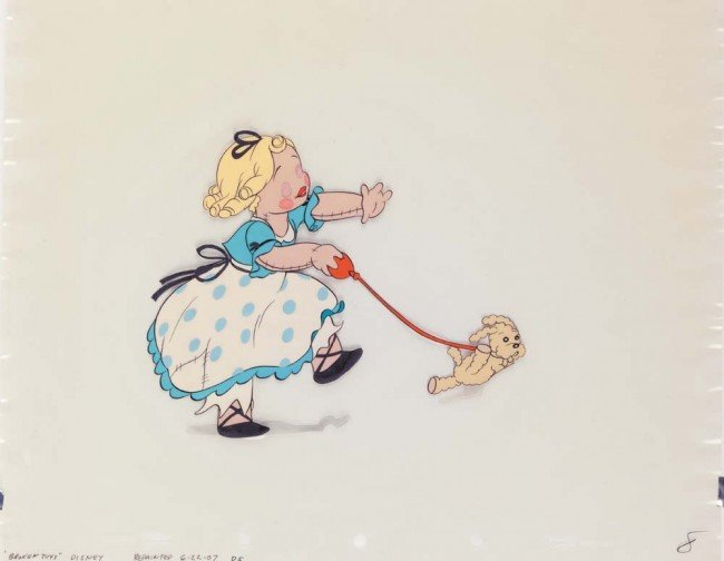 10: Orig prod cel of girl doll from Disney's Broken Toy
