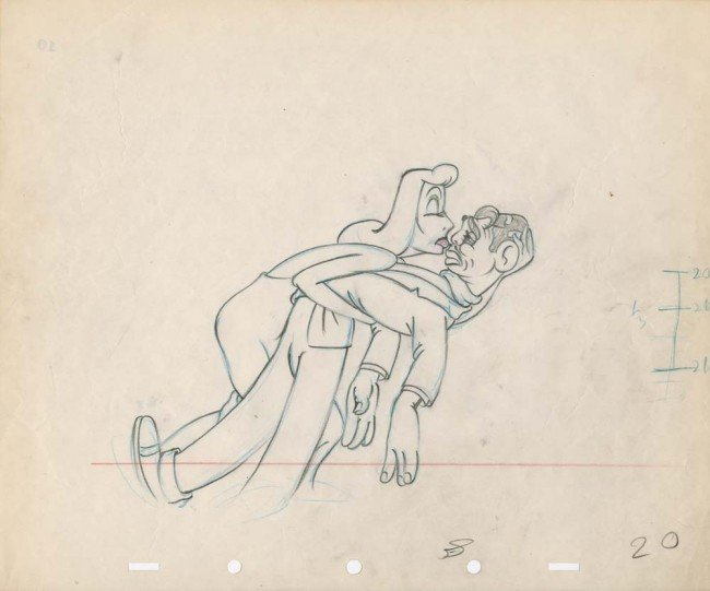 17: Original drawing of Clark Gable & Greta Garbo