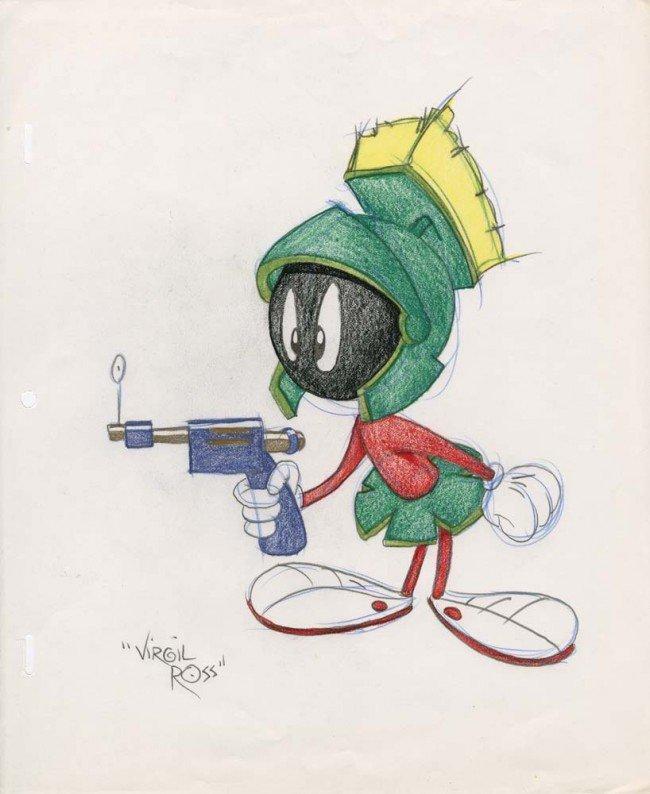 48: Marvin Martian original Virgil Ross drawing