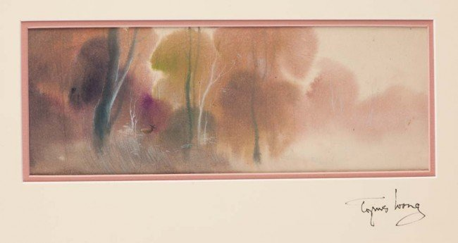 465: Tyrus Wong original concept painting from Bambi