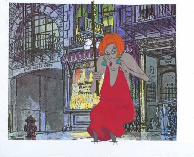 587: The Rescuers production cel of Madame Medusa