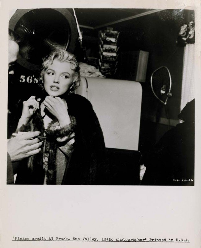 706: Three candid Marilyn Monroe photos from Bus Stop