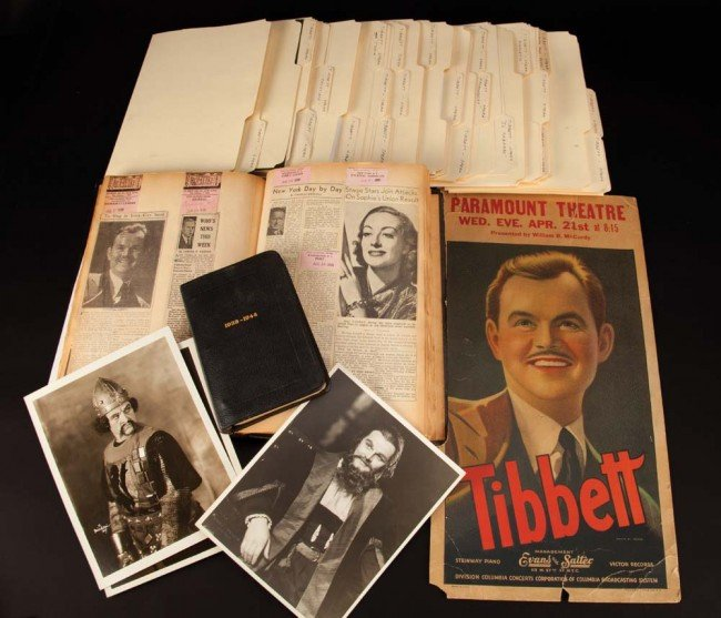 716: Lawrence Tibbett's collection of photos