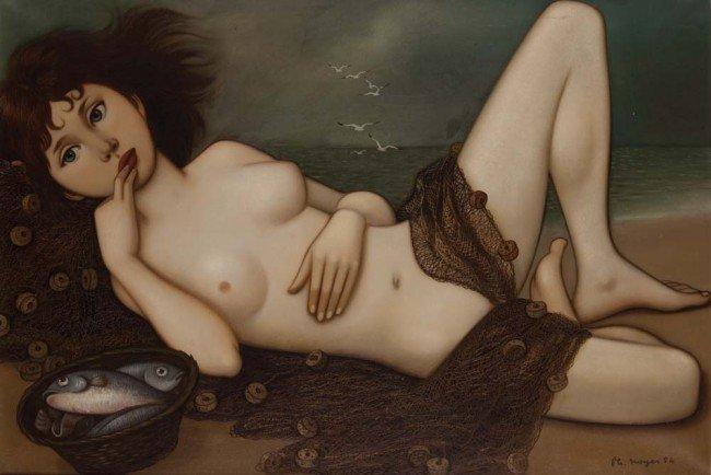 776: Philippe Henri Noyer '54 oil of nude girl