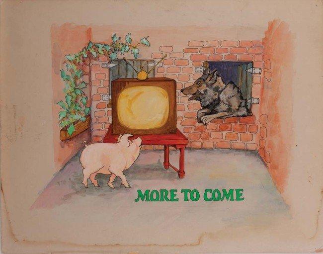 """929: Tonight Show Artwrk """"bumper-card"""" w/ Johnny Carson"""