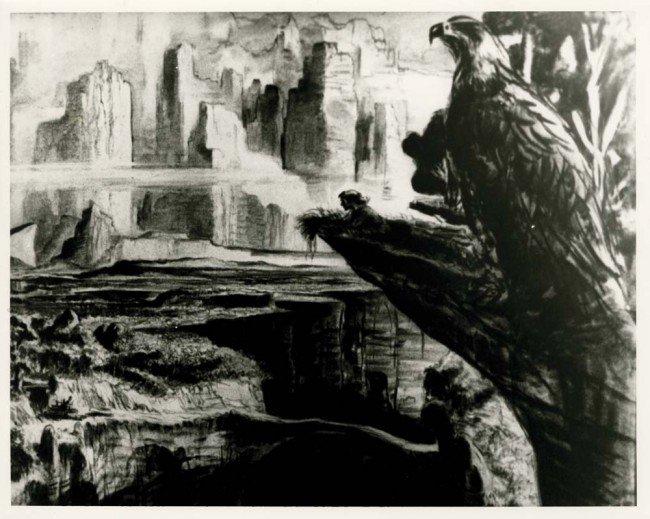 991: Willis O'Brien War Eagles stop-motion armature