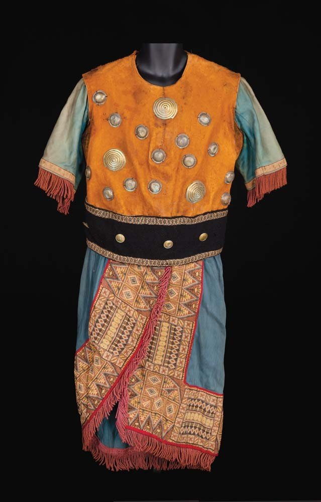 Tunic with suede top attributed to Ben-Hur