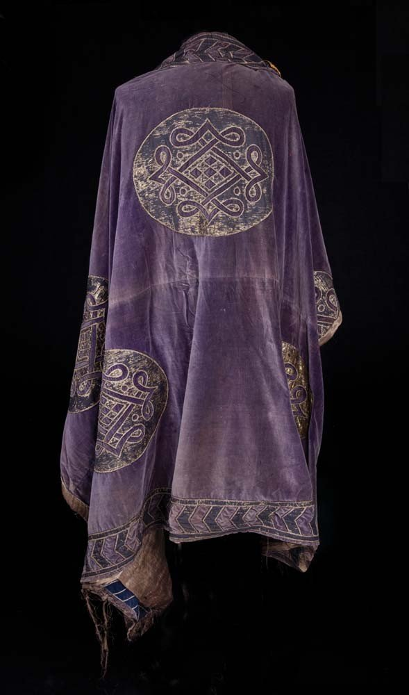 Large purple cape with gold appliqué from Ben-Hur