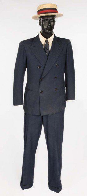 Harold Lloyd Suit & Hat From His Estate, Dated 1928