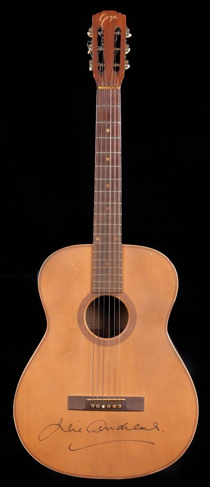 75015b93fcb Julie Andrews signed guitar from The Sound of Music - Jun 18, 2011 ...