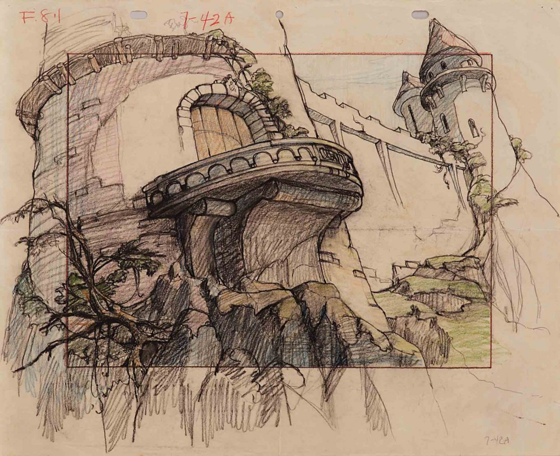 5: Background layout drawing from Gulliver's Travels