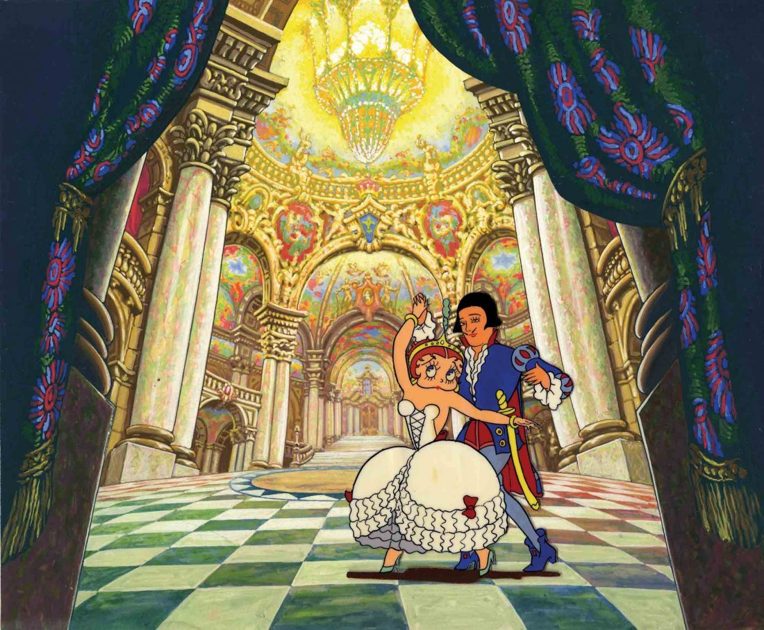 7: Prod cels and backgrounds from Poor Cinderella