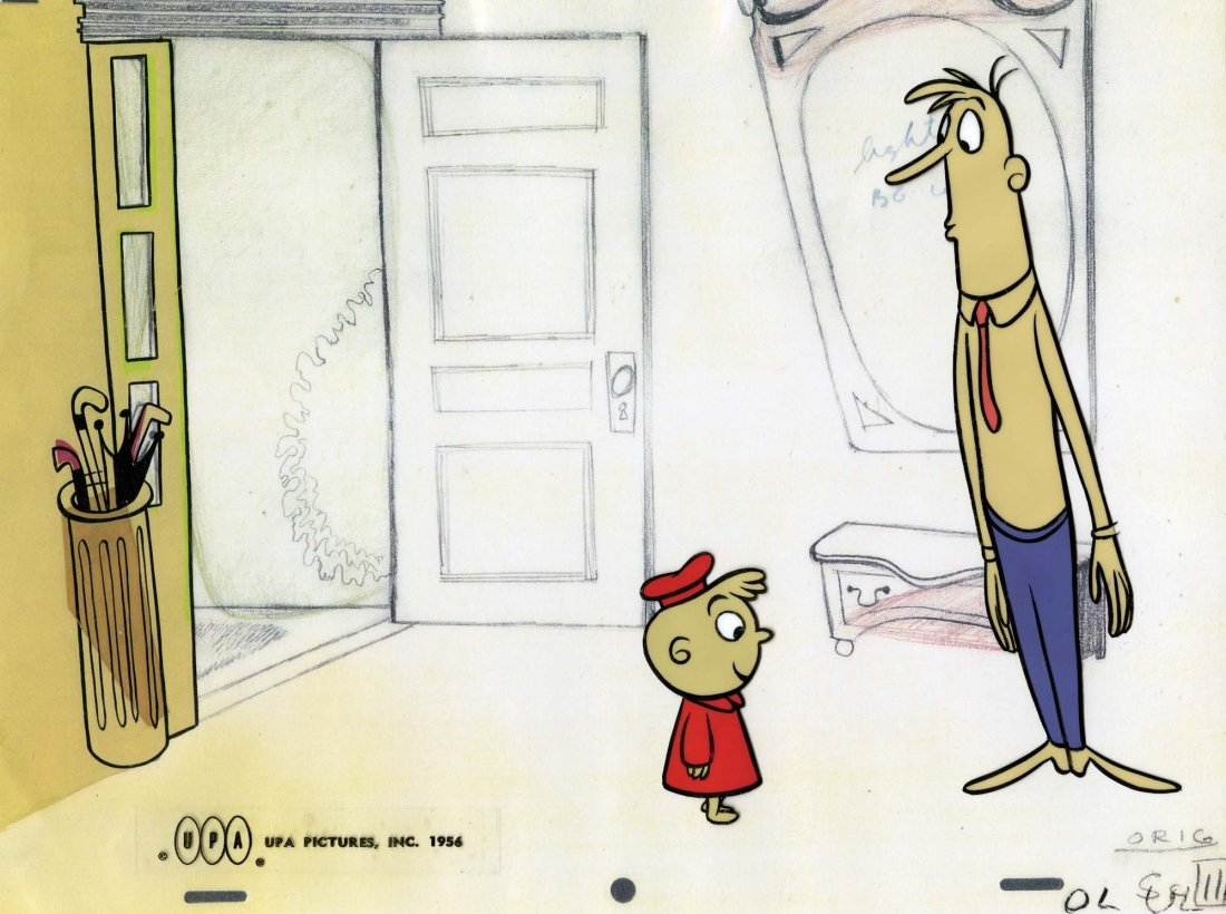 21: Original production cels of Gerald McBoing Boing