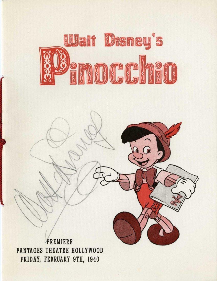 584: Walt Disney signed Pinocchio premiere program
