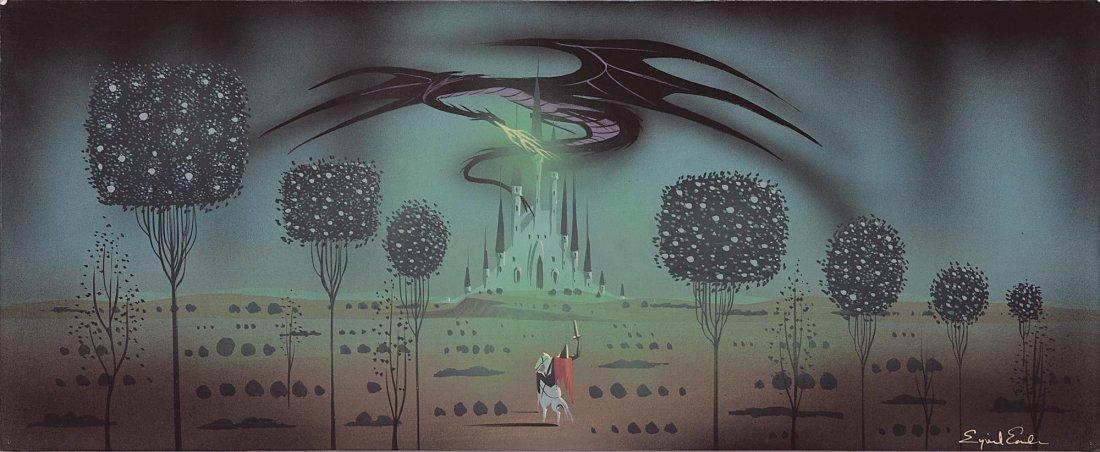 797: Sleeping Beauty original Eyvind Earle concept art