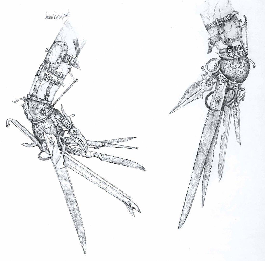 "10: EDWARD SCISSORHANDS ARTWORK OF ""SCISSOR-HANDS"""
