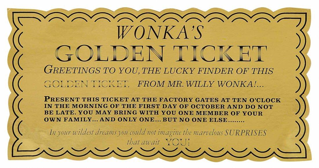 60 veruca salt�s� original screenused golden ticket