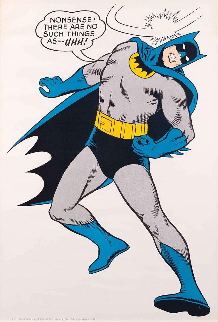 117: 1966 BATMAN WALL POSTER