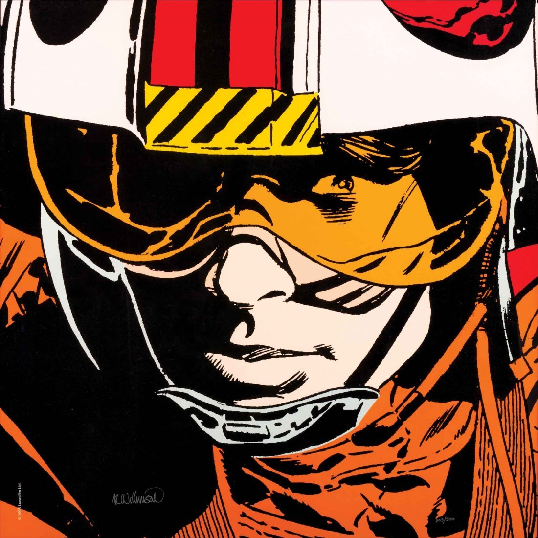 181: AL WILLIAMSON STAR WARS LUKE SKYWALKER LITHOGRAPH