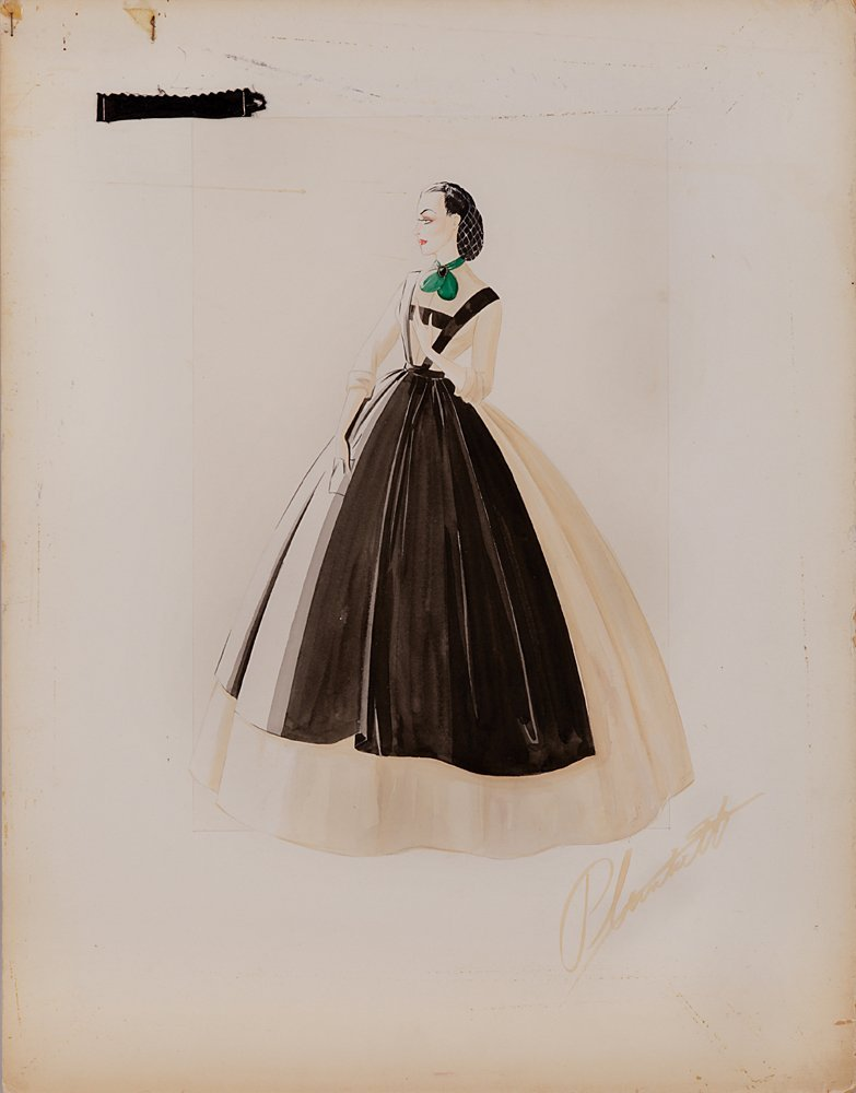 """554: SKETCH OF """"SCARLETT O'HARA"""" IN GONE WITH THE WIND"""