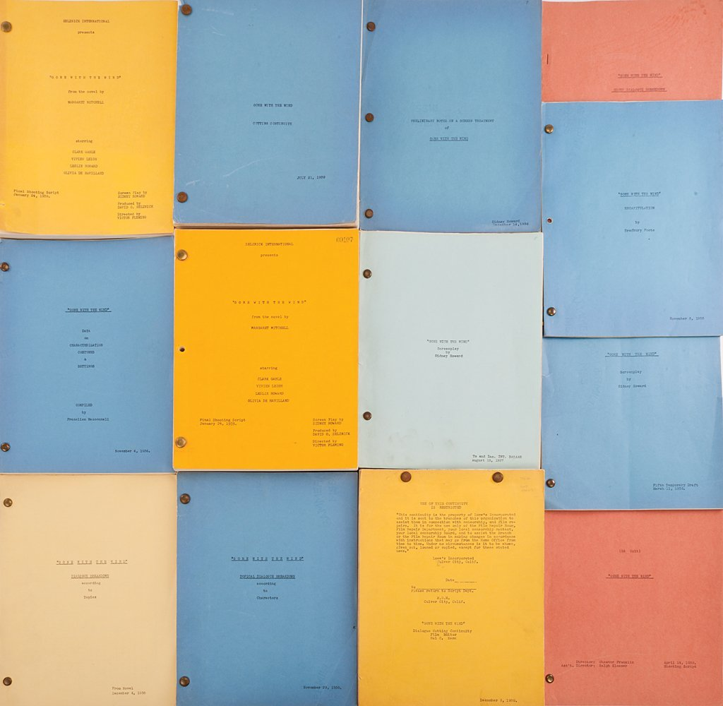 557 Gone With The Wind Script Material W Mitchell Tls
