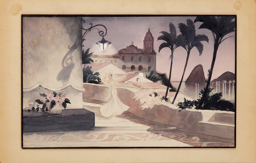 563: CARMEN MIRANDA THAT NIGHT IN RIO CONCEPT ARTWORK