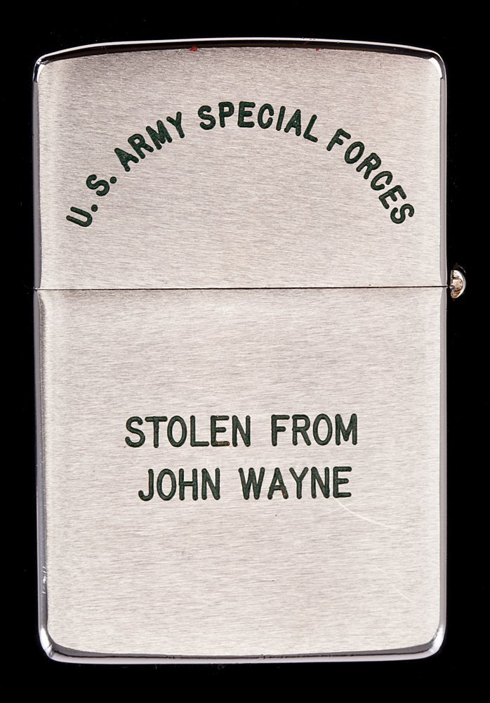 610: JOHN WAYNE GREEN BERETS ZIPPO LIGHTER CREW GIFT