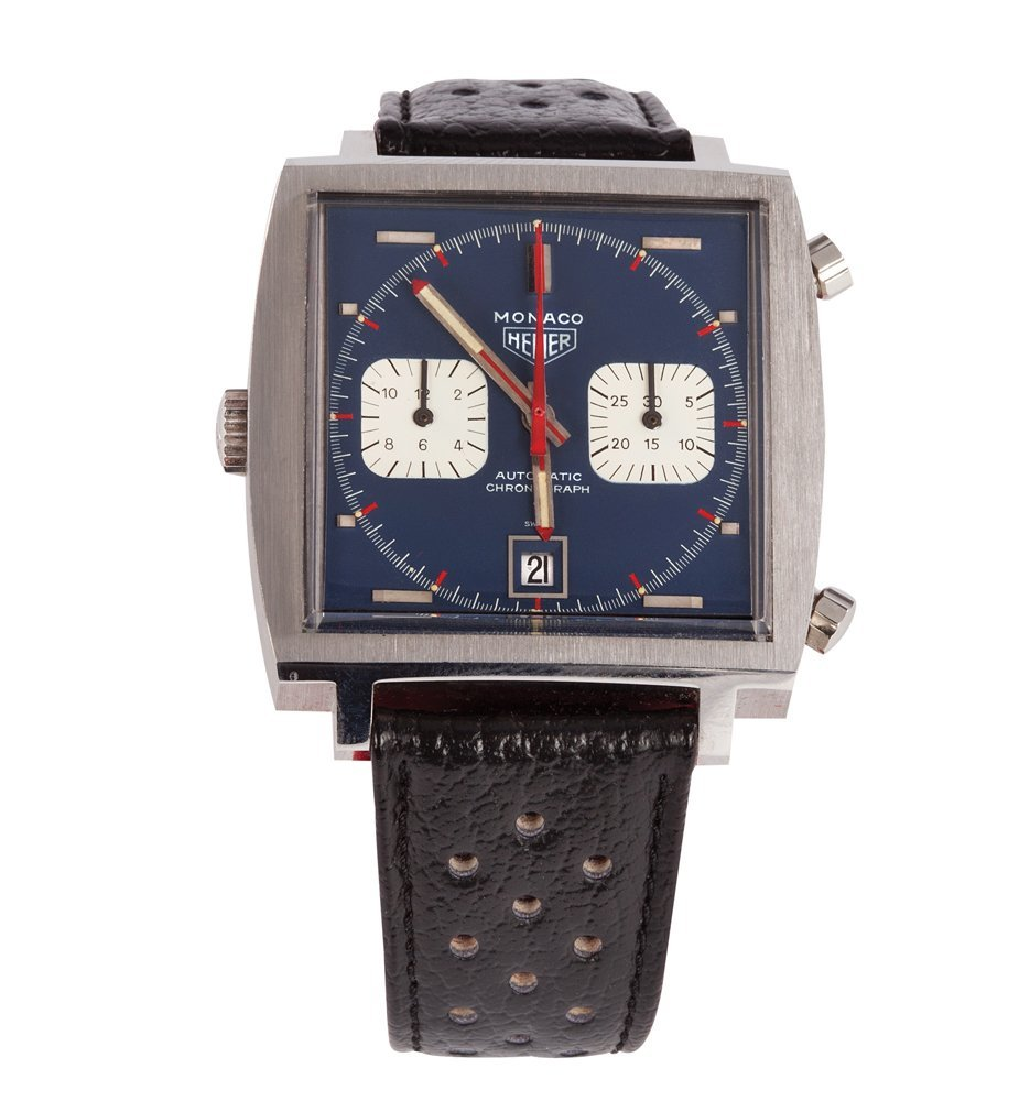 "663: LE MANS S. MCQUEEN ""MICHAEL DELANEY"" HEUER WATCH"
