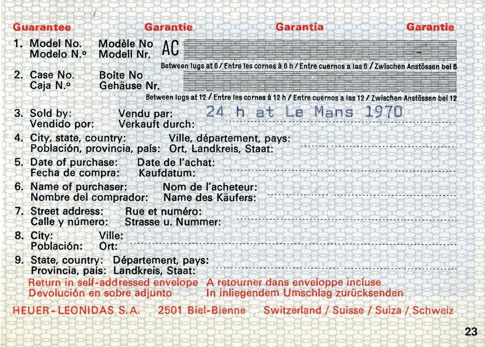"""663: LE MANS S. MCQUEEN """"MICHAEL DELANEY"""" HEUER WATCH - 3"""