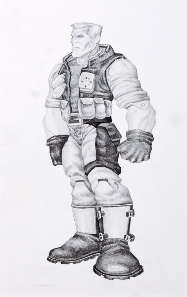 """1009: SMALL SOLDIERS CONCEPT ARTWORK OF """"CHIP HAZARD"""""""
