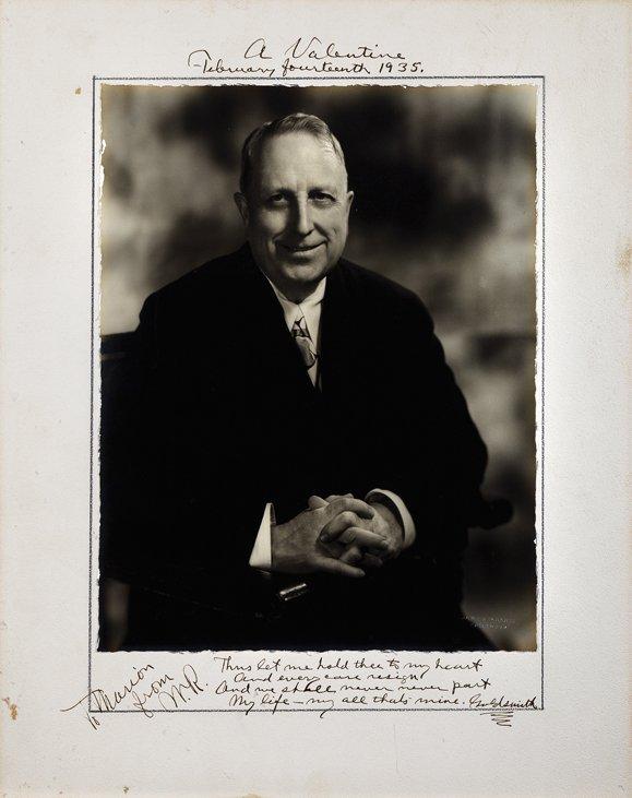 William Randolph Hearst incredible photograph inscribed