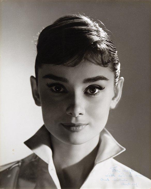 Audrey Hepburn vintage oversize portrait photograph