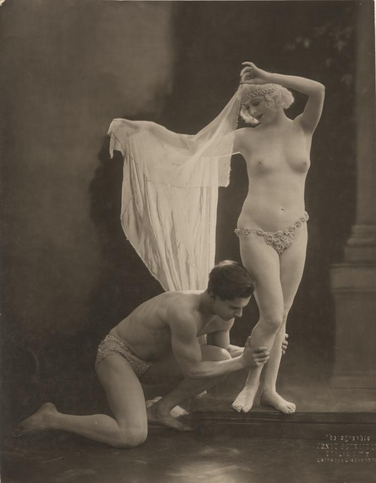Risqué pose (100+) vintage oversize photographs of