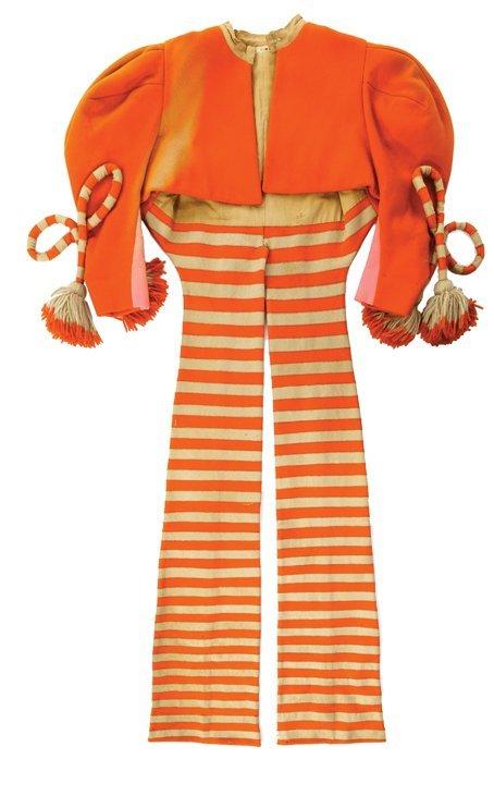 """Eddie Adams """"Munchkin Fiddler"""" orange jacket designed"""