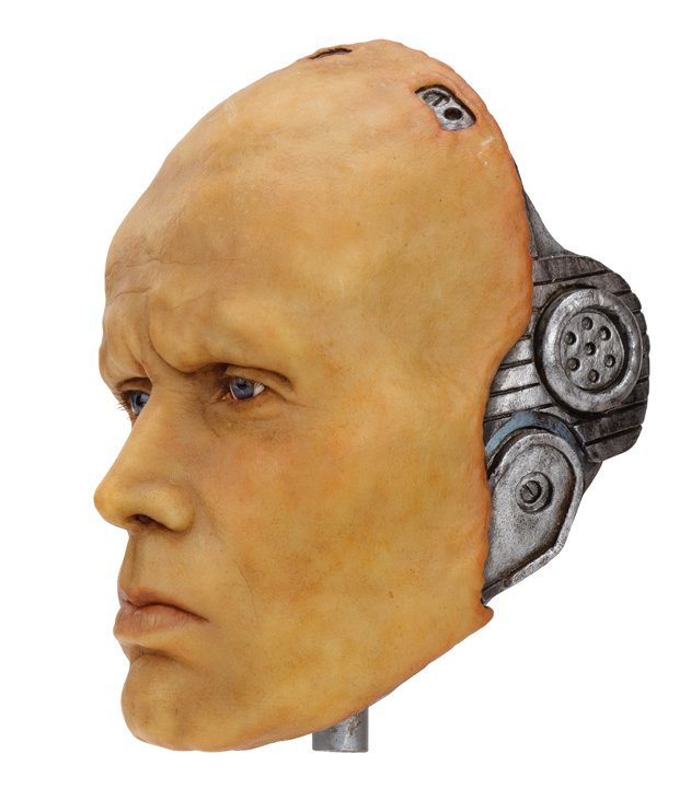 "Peter Weller wax head and plaster cast as ""Robocop"" by"
