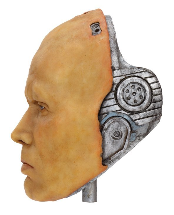 "Peter Weller wax head and plaster cast as ""Robocop"" by - 2"
